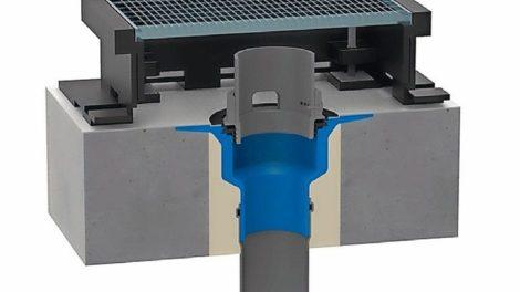 Retentionsaufsatz aus FCKW-freiem Polyurethan-Hartintegralschaum mit verdrehbarem Überlaufelement