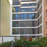 Hofseite eines Bürogebäudes in Berlin