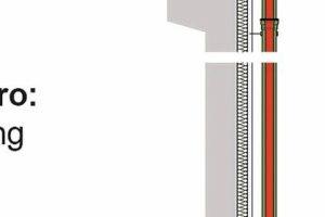 Die Haupt-Not-Kombi von Loro übernimmt die Haupt- und die Notentwässerung von Flachdächern mit nur einer sichtbaren Fallleitung
