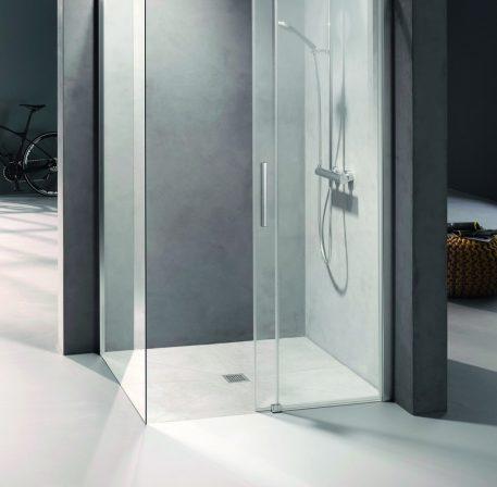 Das Komplett-Duschboard verfügt über eine geringe Gesamteinbauhöhe von 90 mm und erfüllt gleichzeitig alle gesetzlichen Normen.