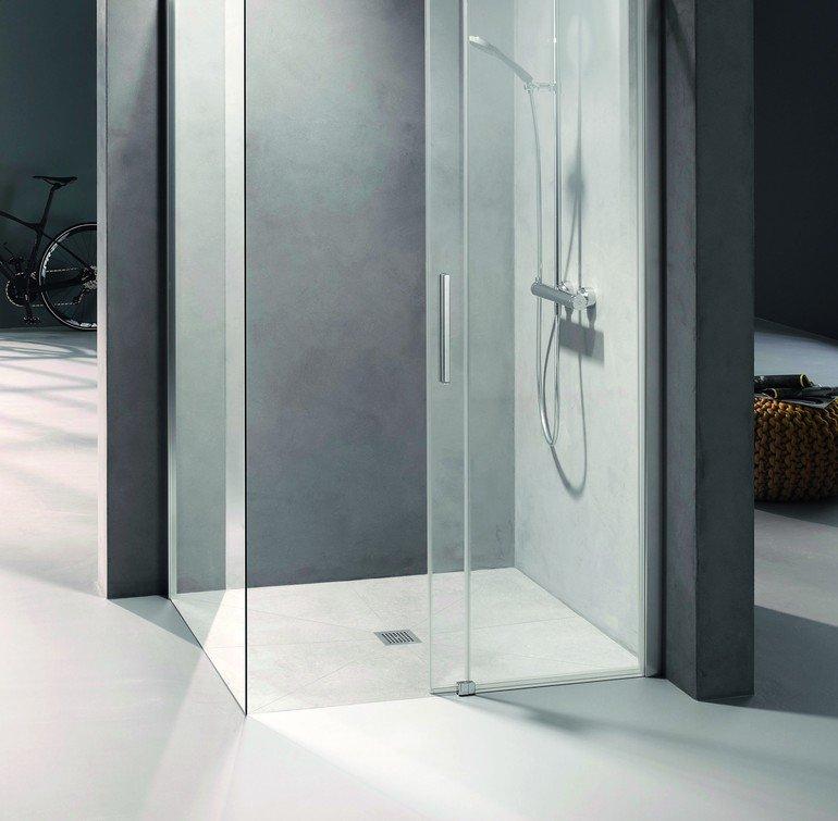 Das Komplett-Duschboard verfügt über eine geringe Gesamteinbauhöhe von 90 mm und erfüllt gleichzeitig alle gesetzlichen Normen. Bild: Kermi