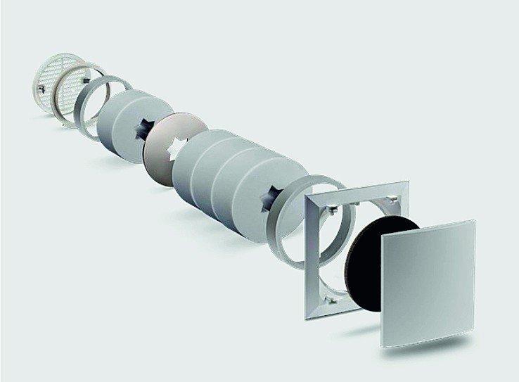 Nutzerunabhängige Lüftung nach DIN 1946-6: Der schallschutzoptimierte Außenwand-Luftdurchlass dient als passive Nachströmung für Wohn- und Schlafräume. Bild: Lunos