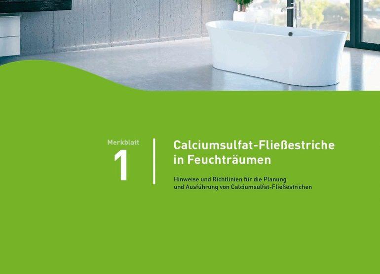 Calciumsulfat-Fließestriche in Feuchträumen