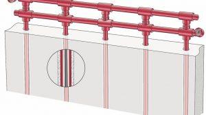 Bauteilaktivierung - Temperierung über die Massivwand. Bild: KS-Quadro | Evotura