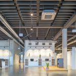 1800 m2 große Ausstellungsfläche im EG des Neubaus. Bild: Wölpert/Knauf AMF