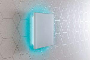 Gesten-Steuerung 5/GS mit berührungsempfindlichem Touchfeld. Bild: Lunos Lüftungstechnik