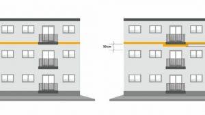 Brandriegel-Anforderungen plus thermische Belange gelten für Balkone. Bild: Schöck Bauteile GmbH
