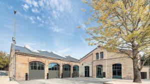 frisch sanierten Wagenhallen in Stuttgart