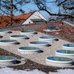 Runde Flachdachfenster für einen neuen Kindergarten in Garching