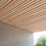 Akustikprofil in 3D für Brettsperrholz-Tragelemente: Die Geschossdecken- oder Flachdachbauteile weisen einen Feuerwiderstand bis REI 90 auf. Bild: Lignotrend, Weilheim-Bannholz