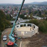 Vorgefertigte Holzelemente beschleunigten den Baufortschritt. Bild: pape oder semke Architekturbüro – Harald Semke