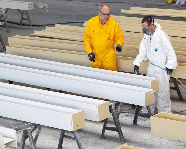2K-Beschichtung für Stahlbauteile: Feuerwiderstandsklassen R30 bis R60