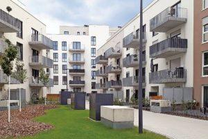 Unter allen Grün- und Belagsflächen der Noltemeyer Höfe befinden sich stolze 5780m² Retentionsfläche. Bilder: ZinCo GmbH