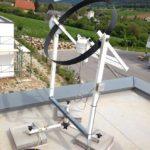 Strahlungsmesser auf dem Dach eines Forschungshauses