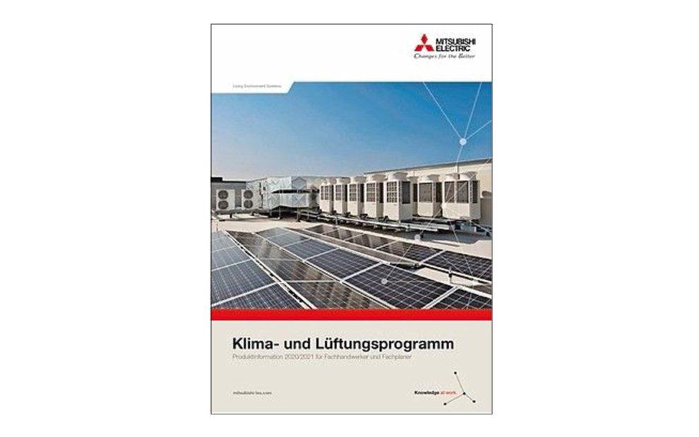 Broschüre Mitsubishi Electric Klima- und Lüftungsprogramm