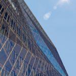 Vollverglaste Faltungen in der Fassade des Cube Berlin