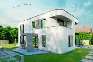 Einfamilienhaus aus dem 3D-Beton-Drucker