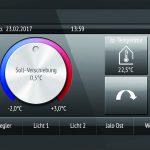 Bedienelemente einer digitalen Gebäudetemperatursteuerung. Bild: Elsner Elektronik
