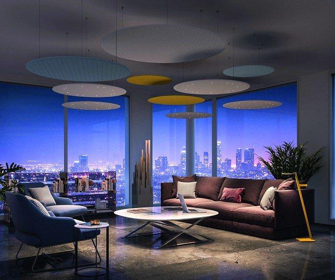 akustikelement mit integrierter led beleuchtung als lichtl sung. Black Bedroom Furniture Sets. Home Design Ideas
