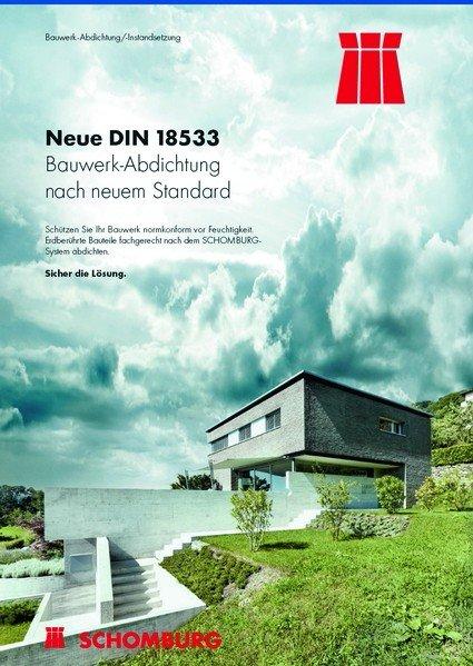 Broschüre: Neue DIN 18533 zur Bauwerk-Abdichtung