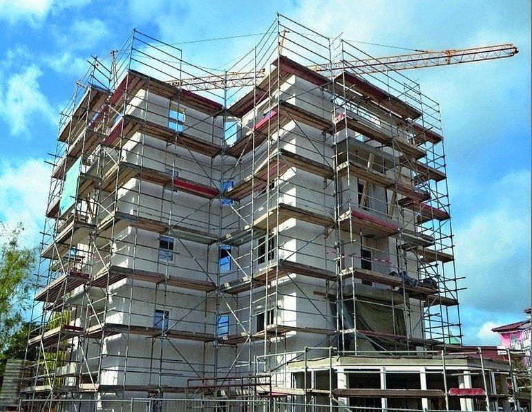 Porenbetonsteine für Mehrgeschossbau. Bild: Ytong