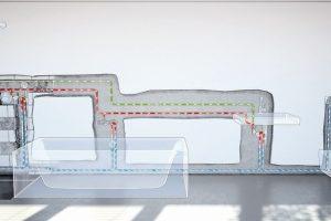 Trinkwasserhygiene dank Ringinstallation und Strömungsverteiler. Bild: Fränkische