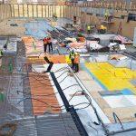 Sylodyn-Matten unterhalb der Bodenplatte verhindern, dass sich durch Straßenbahnen ausgelöste Erschütterungen auf die Gebäudestruktur übertragen. Bild: Getzner Werkstoffe