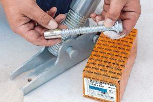 Schraubanker - flexibel auch bei schweren Lasten: mit ETA-Bewertung auch für das Setzen in jungem Beton mit einer Druckfestigkeit ab 10 N/mm² zugelassen. Bild: Heco-Schrauben