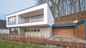 Infraleichtbeton für Neubau eines Einfamilienhauses in Freising. Bild: HeidelbergCement AG / Steffen Fuchs