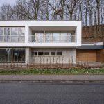 Das Haus f2 steht auf einen Grundstück am Ortsrand von Freising, mit freiem Blick auf ein unverbaubares Naturschutzgebiet. Bild: HeidelbergCement AG / Steffen Fuchs