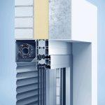 Schnitt durch Aluminium-Vorbaurollladen. Bild: heroal