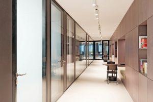 Glastrennwände für Neubau eines Bürogebäudes in Berlin