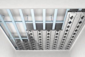 Trockenbausystem: Heizen und Kühlen über die Decke. Bild: PYD-Thermosysteme