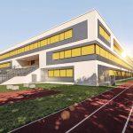 Fünfzügige Grundschule , Hort und Dreifach-Sporthalle unter einem Dach. Bild: Warema