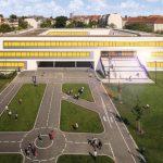 Schulhof dient gleichzeitig als Verkehrsübungsplatz. Bild: Warema