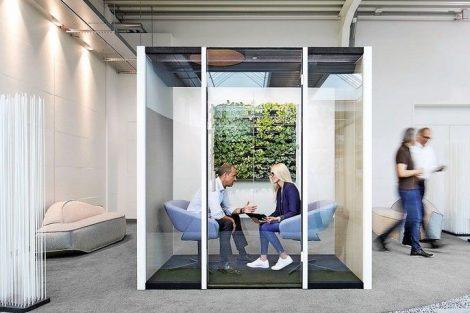 Raum-in-Raum für kreatives Arbeiten