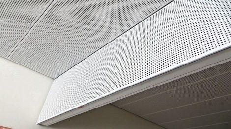 Flurdecke für Anforderungen an Brandschutz und Akustik