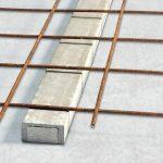 Baustahlgitter auf Betonsockel