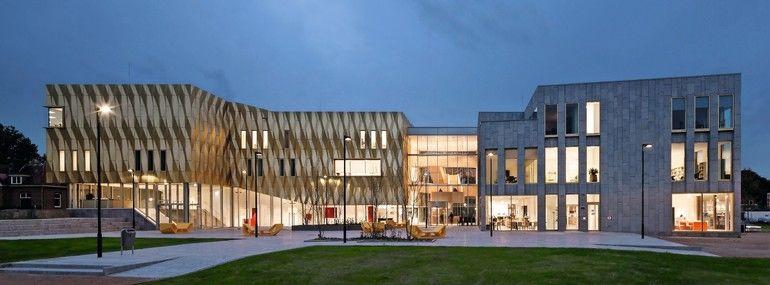 Aluminiumfassade - gefaltet wie Origami - für Kulturbau. Bild: ScagliolaBrakkee