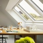 """Studio-Fenster """"3 in 1"""" von Velux von innen"""