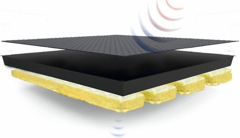 Akustikplatte. Bild: Weiss Doppelbodensysteme