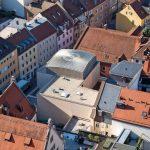 Kuppeldach für Synagoge in Regensburg: Kugel ins Quadrat gesetzt. Bilder: Stefan Effenhauser (Stadt Regensburg)
