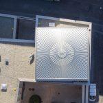 Den Synagogenraum überspannt ein quadratisches Kuppeldach mit einer Metalldachkonstruktion. Bild: Stefan Effenhauser (Stadt Regensburg)