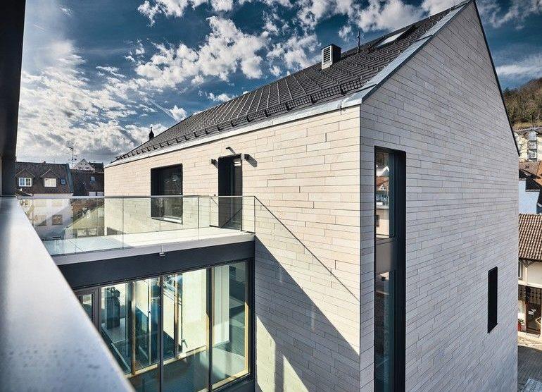 Natursteinfassade Linea