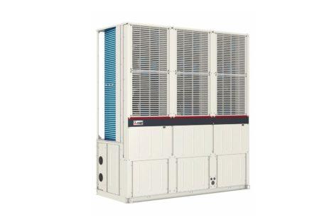 Luftgekühlte Wärmepumpen auf minimaler Aufstellfläche