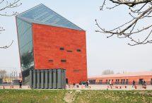 Filigrane Aluminiumprofile für schräg geneigte Fassade. Bild: Aluprof