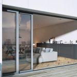 Komplett verborgen: Schiebe-Balkontür in der Wand