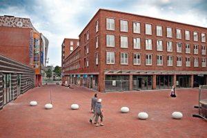 Individuelle Pflaster-Sortierung für die Neugestaltung eines Einkaufsviertels in Zoetermeer bei Den Haag