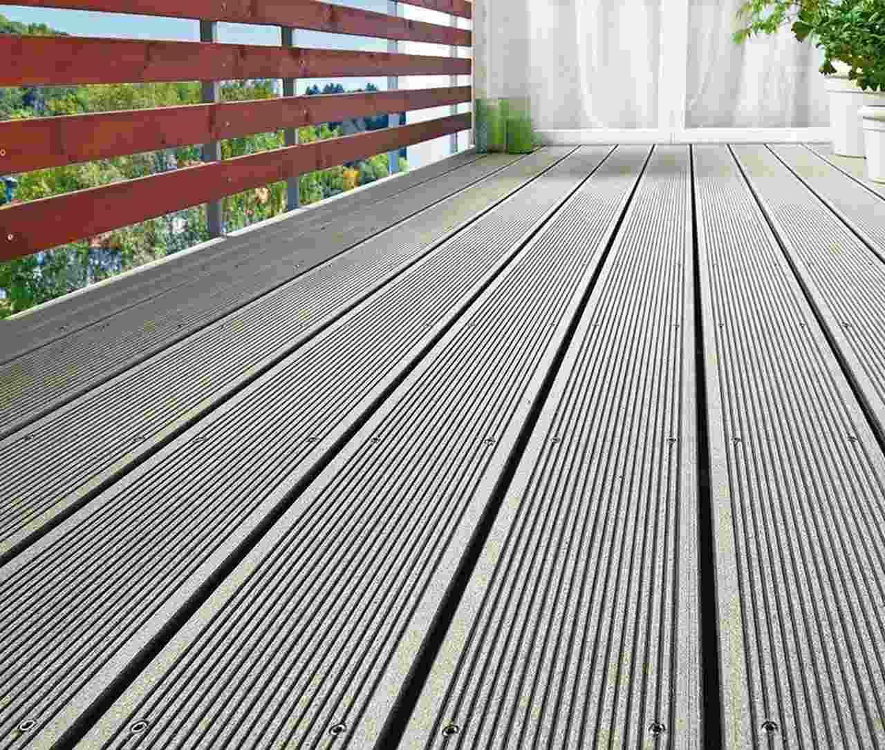 Terrassendiele Aus Holzverbundwerkstoff Mit Zulassung