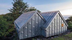 Neubau eines Künstler-Ateliers: Ornamentik in Titanzink